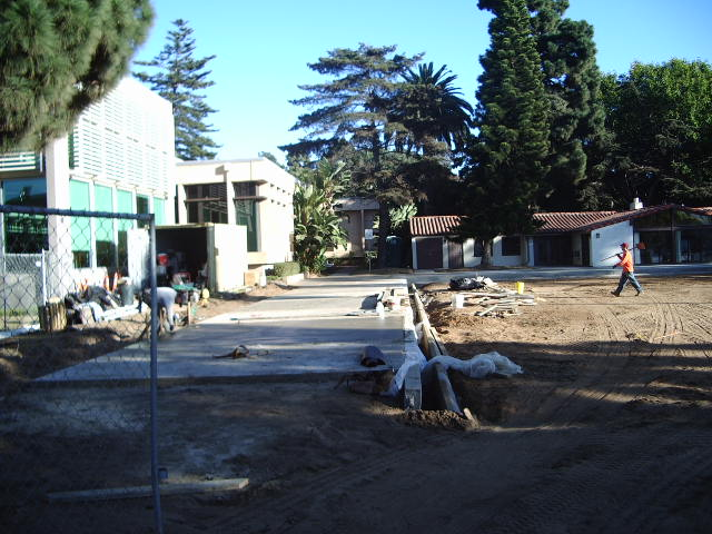 Construction of the Coronado Lawn Bowling Green