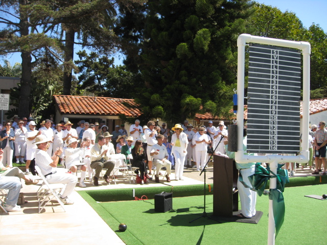 Dedication of Coronado Lawn Bowling Green