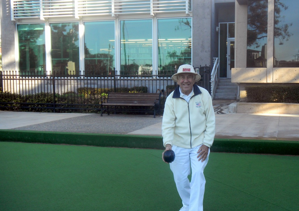 Bill Hiscock was inducted into the Bowls USA Hall of Fame